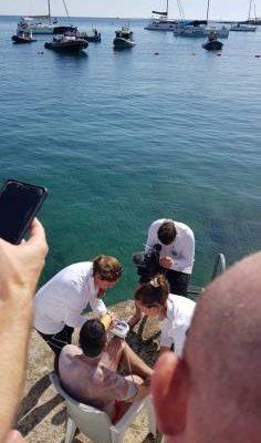 Neil Agius completes Sicily – Malta swim ahead of schedule 2