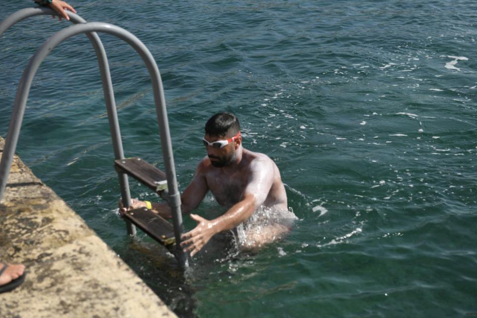 Neil Agius completes epic Sicily-Malta swim in record-breaking time